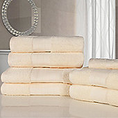 Dreamscene Luxury Egyptian Cotton 7 Piece Bathroom Towel Set - Cream