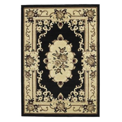 Oriental Carpets & Rugs Marakesh Black Rug - 150cm L x 80cm W