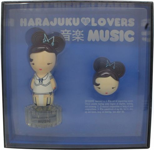 Gwen Stefani Harajuku Lovers Music Gift Set 30ml EDT + 1.2g Solid Perfume For Women