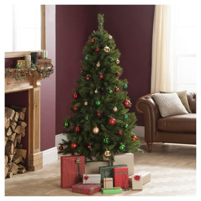 6ft Pre Lit Christmas Tree, Princess Gree Pine (120 white LEDs)