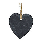Small Hanging Decorative Heart Slate Tag