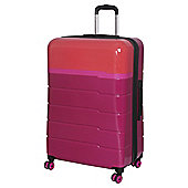 IT Luggage TwoTone 8 wheel Hard Shell Persian Red and Grenadine Large Suitcase