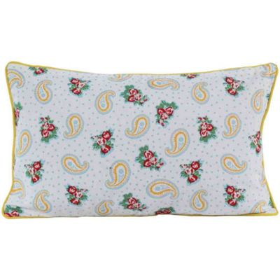 Homescapes Cotton Paisley and Dots Cushion Cover, 30 x 50 cm