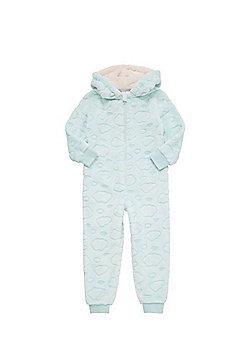 F&F Cloud Hooded Fleece Onesie - Mint