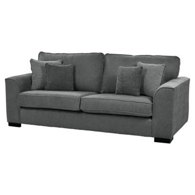 Vitorio Large 3 Seater Sofa, Dark Grey