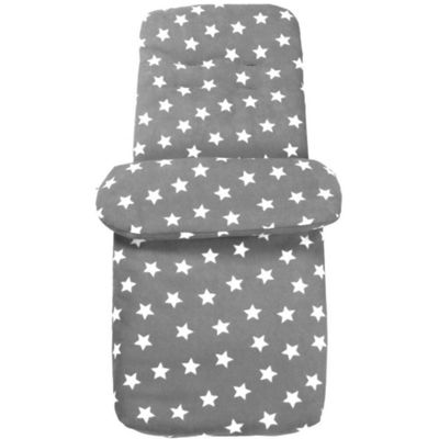 Clair de Lune Star Fleece Footmuff (Grey)