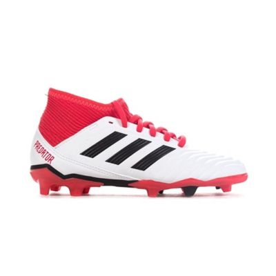 adidas Predator 18.3 FG Kids Football Boot White/Black Cold Blooded - UK 1