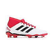 adidas Predator 18.3 FG Firm Ground Kids Football Soccer Boot Cold Blooded - White