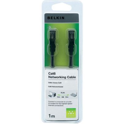 Belkin Cat6 UTP Networking Cable- 1m