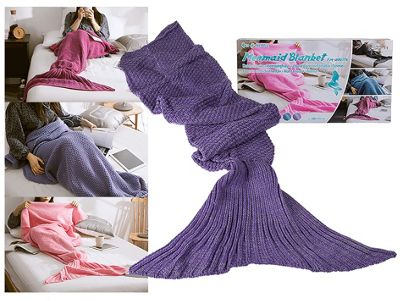 Adult Mermaid Tail Blanket (180cm x 90cm) - Purple
