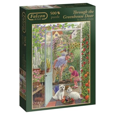 Falcon Games Deluxe Through the Greenhouse Door Puzzle (500-Piece, Multi-Colour)
