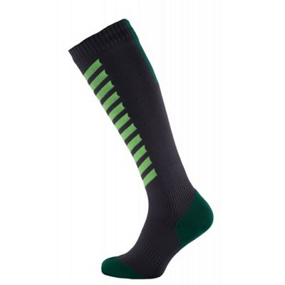 SealSkinz MTB Mid Knee Socks Grey/Green Size: S