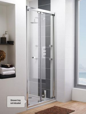 ultra roma frameless bifold shower door 900mm wide 6mm glass
