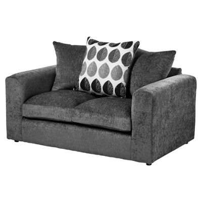 Whitton Scatterback Compact 2 Seater Sofa, Dark Grey