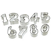 Let's Make Stainless Steel Numeral Cookie Cutter Set of 9