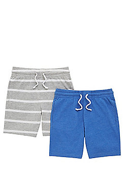 F&F 2 Pack of Jersey Shorts - Multi