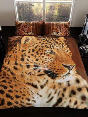3D Leopard Double Duvet Cover