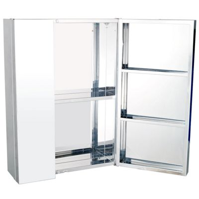 tesco direct bathroom cabinets buy homcom stainless steel bathroom mirror cabinet from 20783