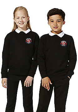 Unisex Embroidered School Sweatshirt with As New Technology - Black