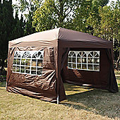 Outsunny Pop Up Water Resistant Gazebo Party Tent Marquee - 3m x 3m - Coffee