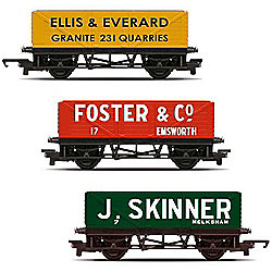 HORNBY Wagon R6784 Pack of 3 Open Wagons - Railroad