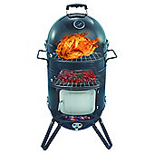 Premium Charcoal Smoker BBQ Grill with Hanging Rack, Hooks, Grill and Weather Proof Cover