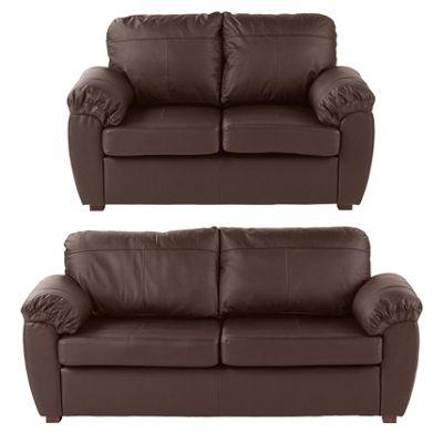 Wilton 2 Seater & 3 Seater Sofa Bundle, Chocolate