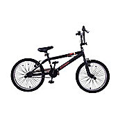 "Ammaco Recruit 20"" Wheel BMX Bike 360 Gyro Black"