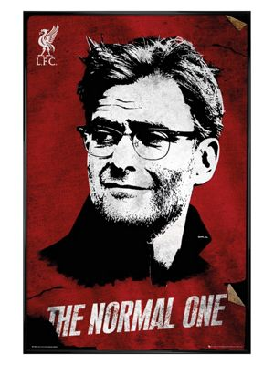 Liverpool FC Gloss Black Framed Liverpool The Normal One Poster 61x91.5cm,