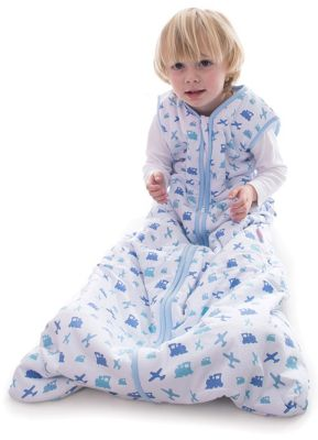 Snoozebag Baby Sleeping Bag 6-18 Months Planes & Trains 1.0 tog