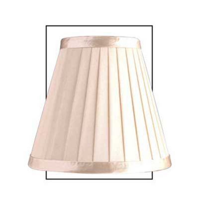 Cream 6 inch Satin Silk Pleated Shade