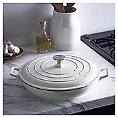 Go Cook Cast Iron Shallow Casserole Dish 3.38L Cream