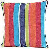 Homescapes Cotton Multi Coloured Stripe Cushion Cover, 45 x 45 cm