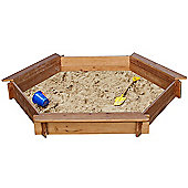 3 Seat Hexagonal Wooden Sandpit 1.5 metres wide