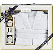 Style & Grace Signature Bathrobe Gift Set 100ml Body Wash + 100ml Body Lotion + Bathrobe