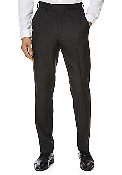 F&F Flexi Waist Regular Fit Twill Trousers - Grey