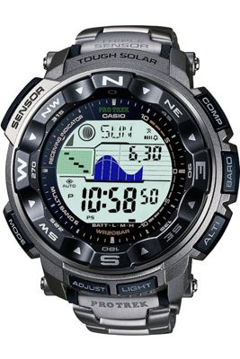 Casio Protrek Multifunction Strap Watch Black and Grey