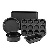 VonShef 5 Piece Non Stick Carbon Steel Cookware Bakeware Oven Tin Trays Set