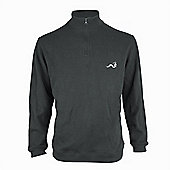 Woodworm Golf Half Zip Sweater Grey Large