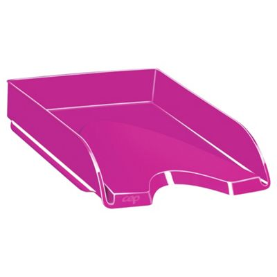 Solid Pink Letter Tray
