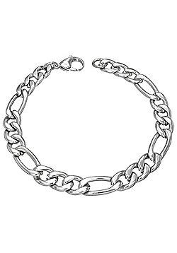 Urban Male Chunky 3+1 Figero Link Men's Stainless Steel Bracelet