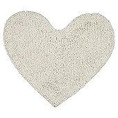 Microchenille Ivory Heart Mat