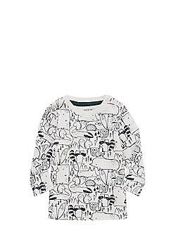 F&F Woodland Print Long Sleeve T-Shirt - Cream