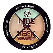 w7 Hide 'N' Seek Colour Correcting Concealer Quad - Anti Red 5g