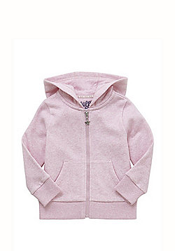 F&F Marl Zip-Through Hoodie - Pink