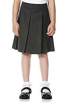 "F&F School Girls Pleated School Skirt with Teflon EcoElite""™ - Grey"