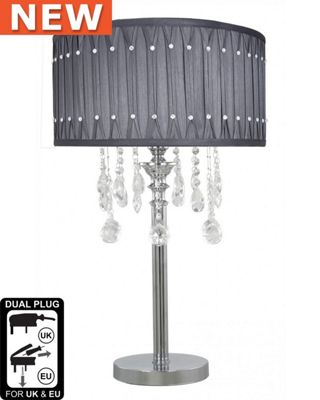 71cm Glamlux Glass Crystal Pendant Table Lamp