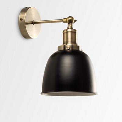 Buy wilhelm antique brass wall light from our flush semi flush wilhelm antique brass wall light mozeypictures Choice Image