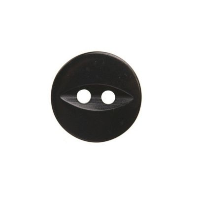 Hemline Black Fish Eye Buttons 18.75mm 4pk