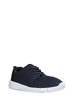 F&F Speckled Sole Mesh Lifestyle Trainers - Navy